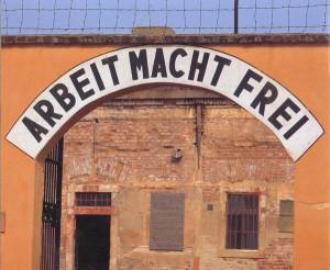 L'ingresso del campo di concentramento di Theresienstadt