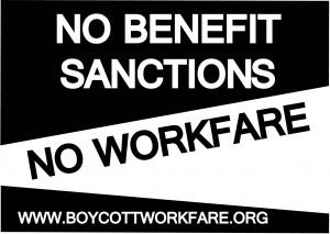 Slogan della campagna contro il workfare