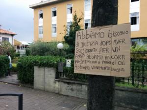 Protesta dei richiedenti asilo a Rivarolo, Settembre 2014