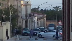 Blocco stradale a Partanna