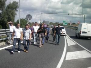 Blocco dell'autostrada Salerno-Avellino
