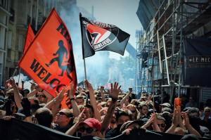 Manifestazione antifascista per ricordare Clement Meric