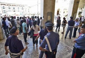 Protesta al Comune di Pesaro