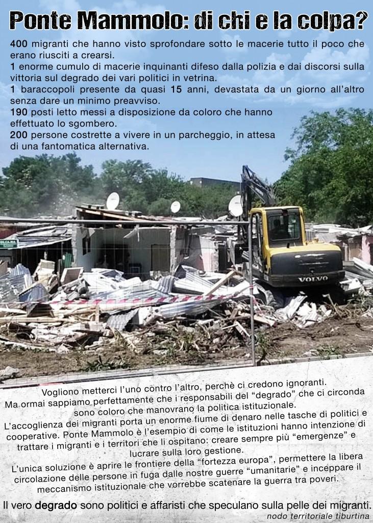 "Un manifesto del ""Nodo territoriale Tiburtina"""