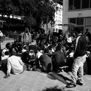 Assemblea dei migranti a Pajol