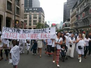 Corteo delle migranti sans papier a Bruxelles