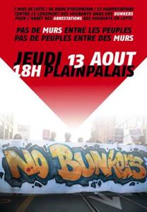Manifesto del corteo No Bunker a Ginevra