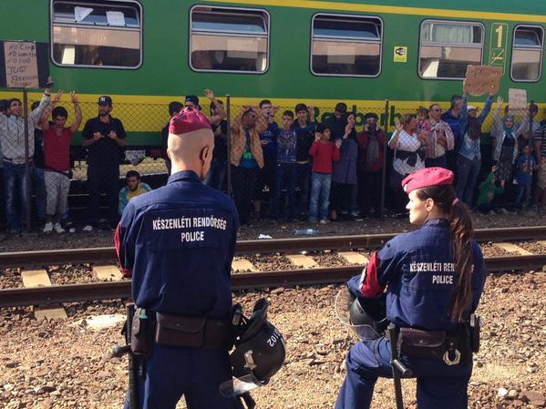 Ungheria: i migranti in protesta a Bicske