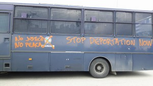 Protesta all'hotspot di Lesbo, 24 Marzo