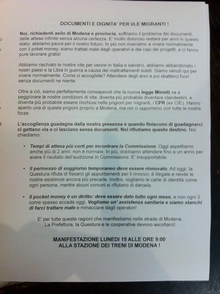Modena – Basta sfruttamento! Manifestazione lunedì 15 maggio alla ...